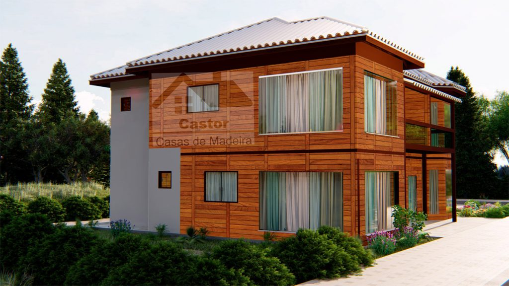 Casa de madeira 4, 5 e 6 quartos