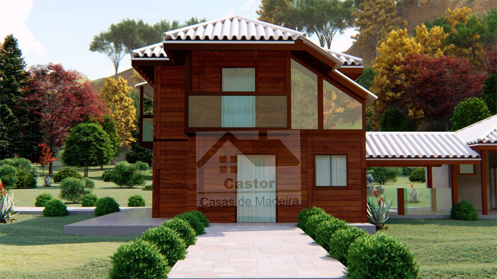 Casa de madeira 3 quartos