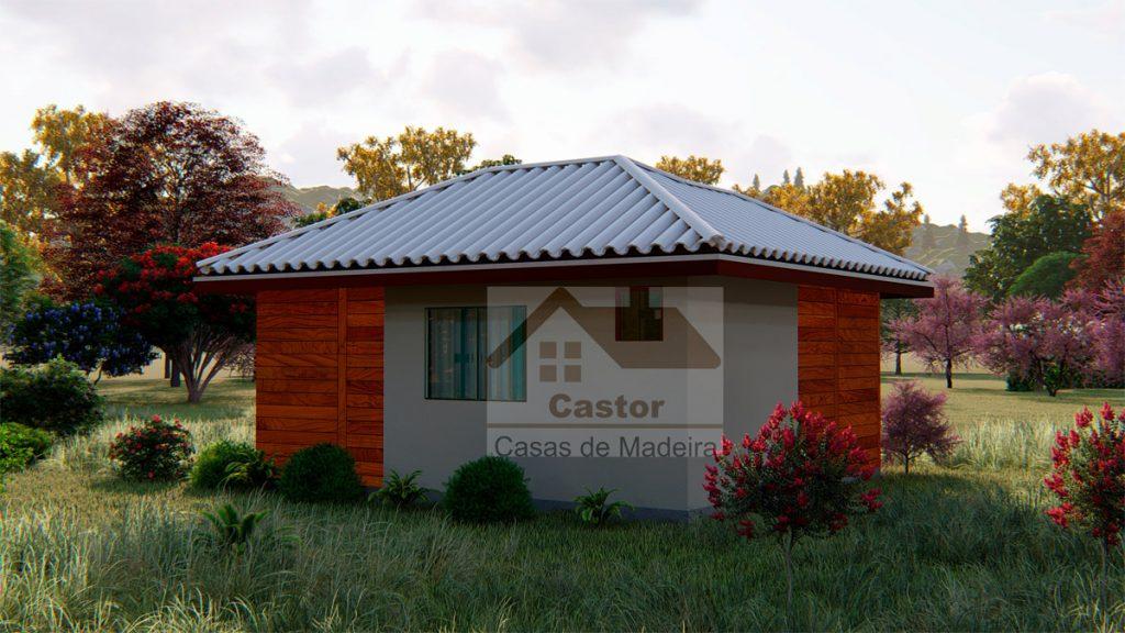 Chalés e lofts de madeira