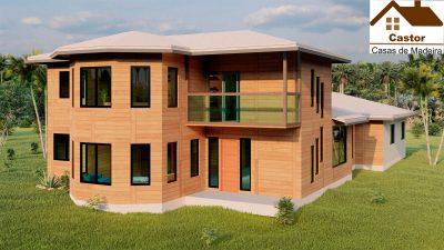 casa de madeira projeto alemanha
