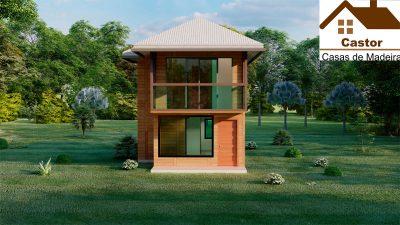 Chalé de madeira projeto Milão