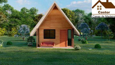 Chalé de madeira projeto Monte Castelo