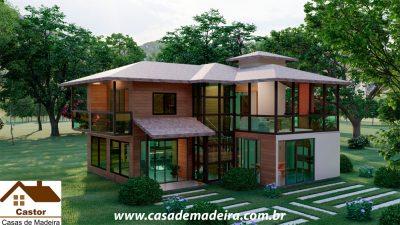 casa de madeira canada