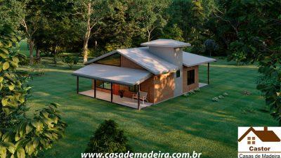 casa de madeira modelo chicago