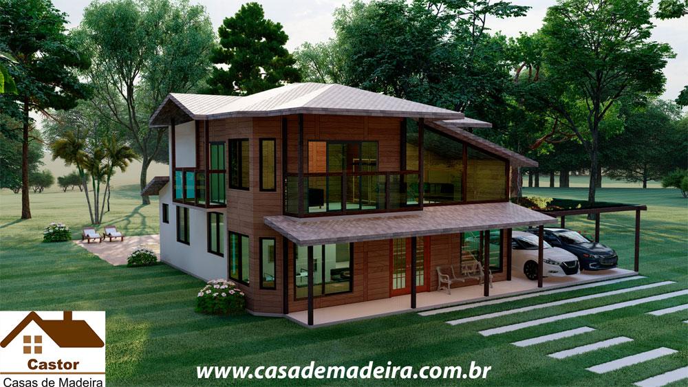 casa de madeira china