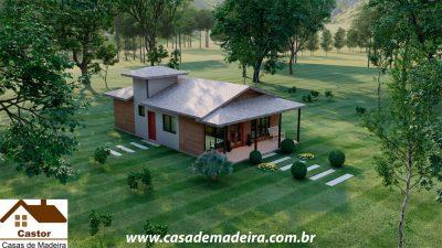 casa de madeira eua