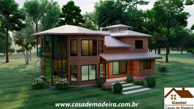 casa de madeira franca