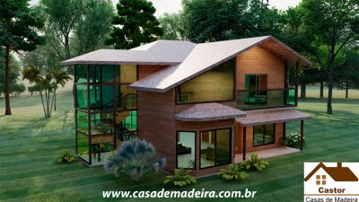 casa de madeira italia
