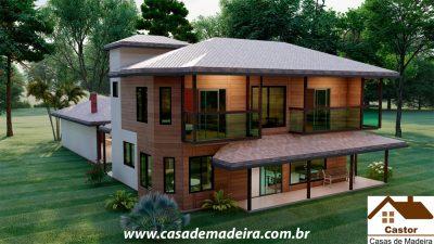 casa de madeira roma
