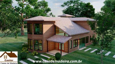 casa de madeira russia