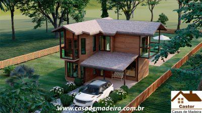 casa de madeira veneza