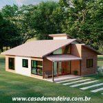 casa de madeira loft