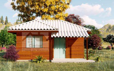 1 casa de madeira