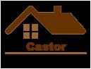 Castor casa pre-fabricada de madeira